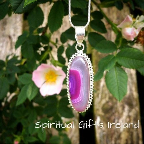 Visit our store at www.spiritualgiftsireland.com  Follow Spiritual Gifts Ireland on www.facebook.com/spiritualgiftsireland www.instagram.com/spiritualgiftsireland www.etsy.com/shop/spiritualgiftireland We are also featured on Tumbler  Beautiful Pink Botswana Agate mined from African Caves vibrates at a slow and steady frequency.  Its balance and stability make it beneficial for life situations requiring calmness and logic.✨  Life often throws curve balls causing us to emotionally self…