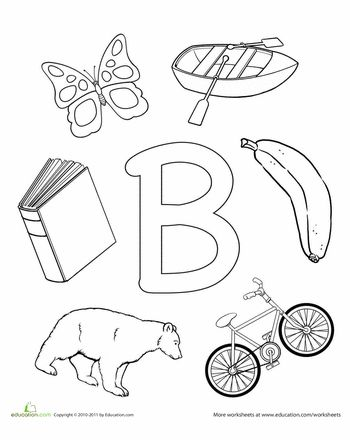 """""""letters"""" Worksheets: B Is For..."""