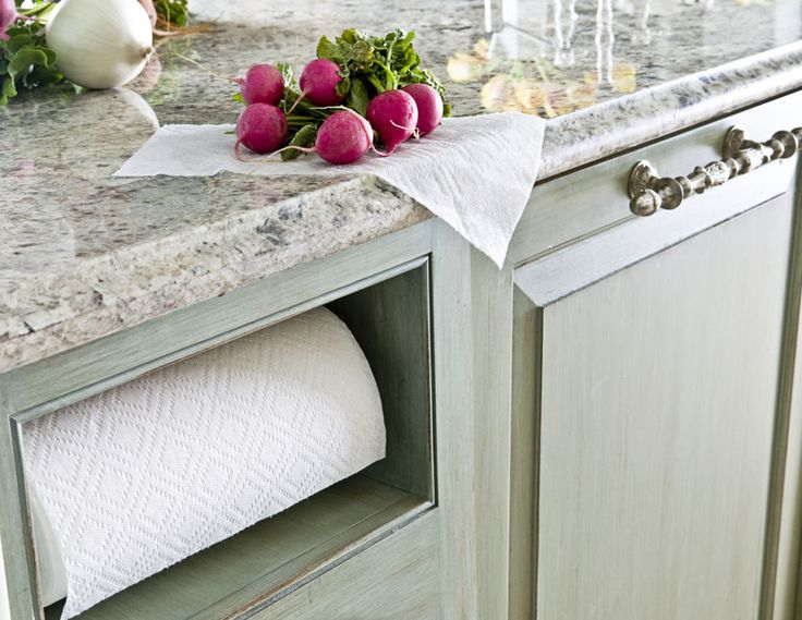 A Built-in Paper Towel Holder  - CountryLiving.com