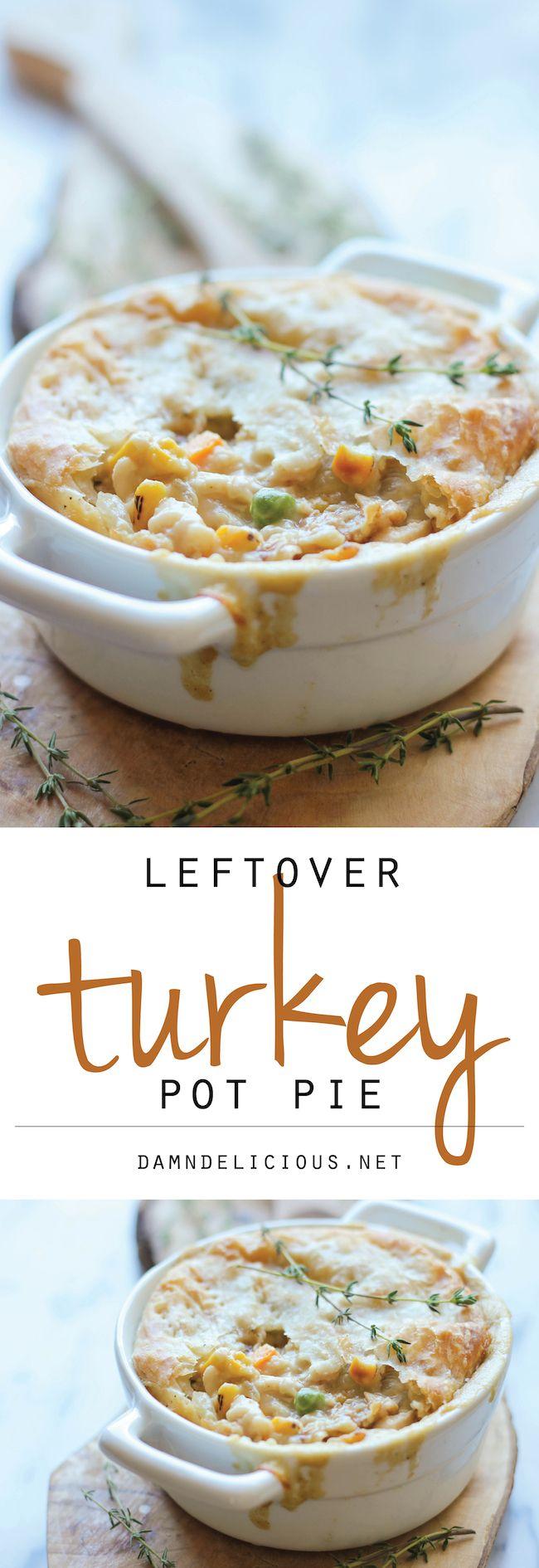 Leftover Thanksgiving Turkey Pot Pie