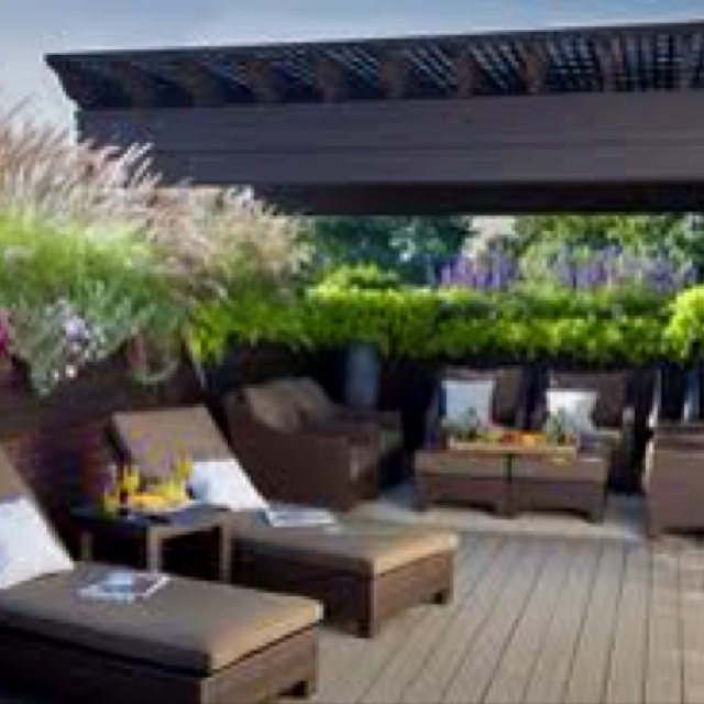 Garage roof top deck idea home decor ideas pinterest for Garage with deck on top