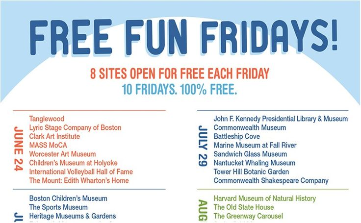 Free Fun Fridays – 80 Local Venues Offering Free Admission for Summer 2016