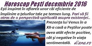 diane.ro: Horoscop Peşti decembrie 2016