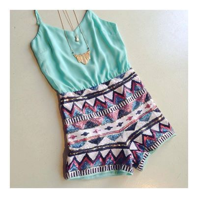 aztec sequin romper #swoonboutique