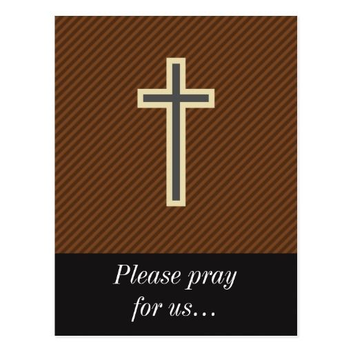 Prayer Request + Tan and Grey Christian Cross