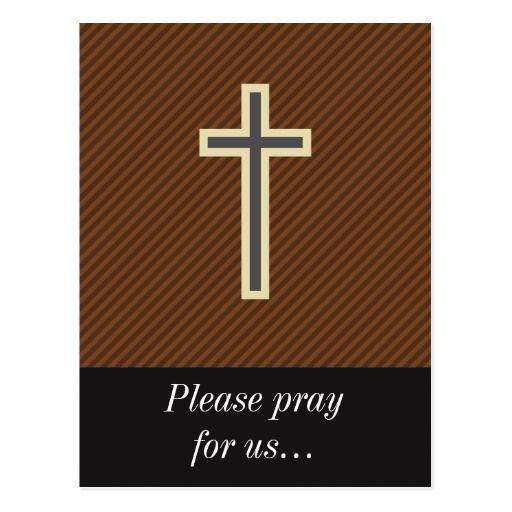 Prayer Request + Tan and Grey Christian Cross