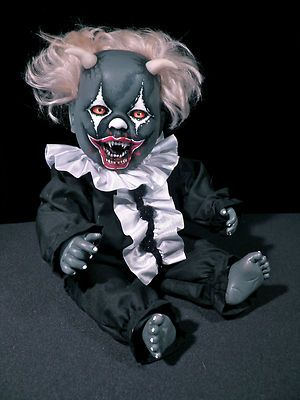 OOAK Krypt Kiddies Vampire Goth Horror Clown Demon Reborn Doll Evil Halloween A | eBay
