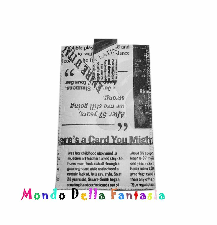 Mondo Della Fantasia: Porta cellulare in eco pelle :)