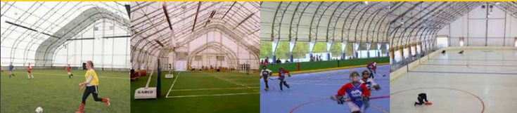 Indoor Athletic Buildings Recreational Fabric Structues.Call Global Plastic Sheeting, your USA Britespan Dealer!