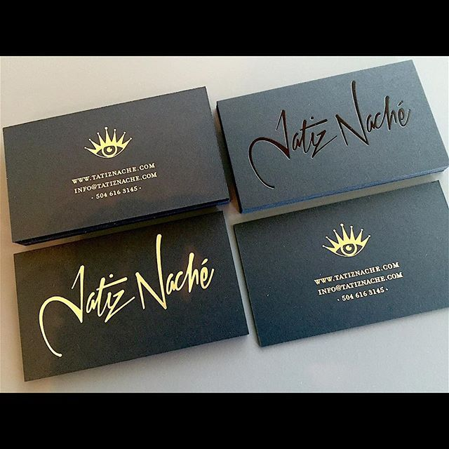 32 best foil stamped business cards images on pinterest business love these cards for a great artist out of new orleans one with gold foil reheart Images