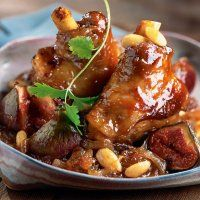 Confit lamb shanks with figs and almonds - french food and wine #food #cuisine
