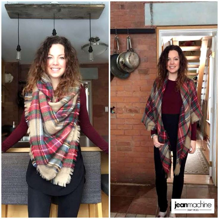 In our lastest #StaffPicks, Emily heads home for the holidays. She picks @guess Brittney Skinny Jeans in Black, Classe Couture Chiffon Bottom Tunic & Grandcraft Plaid Blanket Scarf to keep it stylish and cozy over the holidays! #GetYourHolidayOn