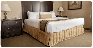 Our suites will make you feel right at home with a cozy seating area and large comfortable king sized bed.
