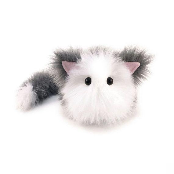 Stuffed Cat Stuffed Animal Cute Plush Toy Cat Kawaii by Fuzziggles