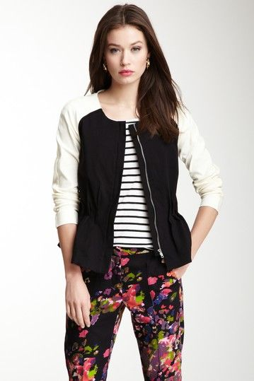 stripe and floral combo: Jackets Tops 59, Jackets Top59, Style Fashion, My Style, Colorblock Jackets