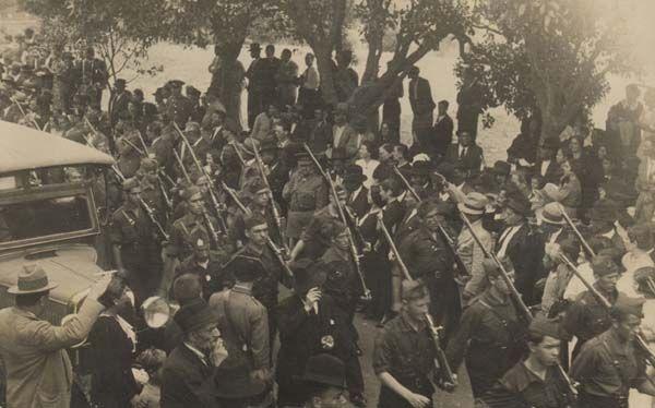 MILICIAS Falangistas EN LAS PALMAS DE GRAN CANARIA.