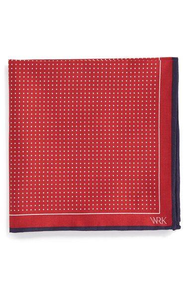 W.R.K Dot Silk Pocket Square | Nordstrom