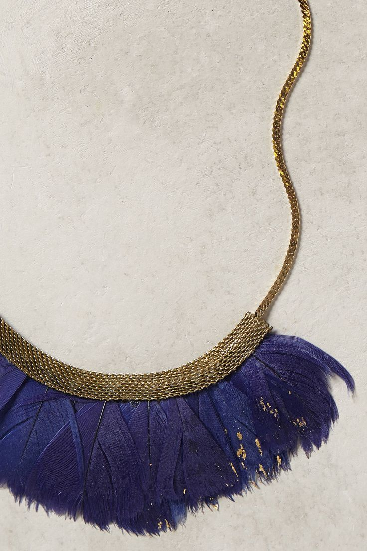 Fanned Feather Necklace