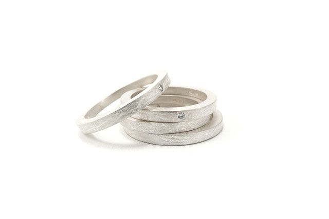 Latest work from my studio. Silver rings with or without small diamond. By Karina Bach-Lauritsen.