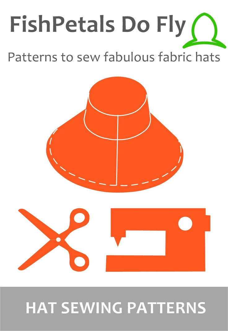 Fabric hat patterns to sew! Easy digital patterns - learn new techniques, be creative and use up your stash!