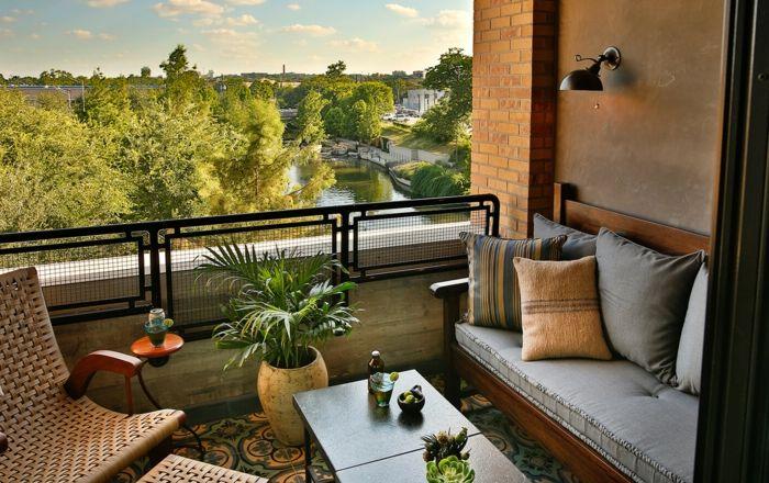 terrasse gestalten kleine terrasse gem u00fctlich ausstatten ideen zum entnehmen sofa sessel kissen