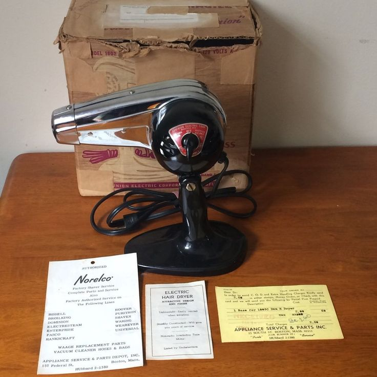 Vintage Dominion Electric Hair Dryer Model 1803a Retro Midcentury ~ Works!