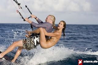 The Best Way To Learn Kiteboarding...with a naked supermodel on your back, of course !