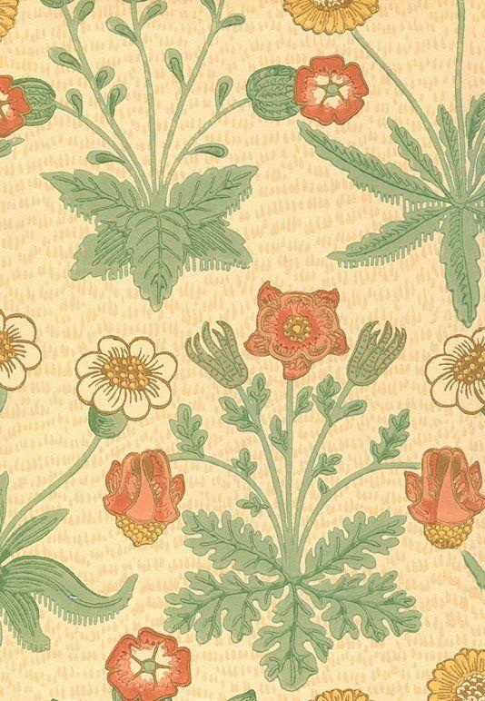 Daisy Wallpaper Classic William Morris wallpaper depicting