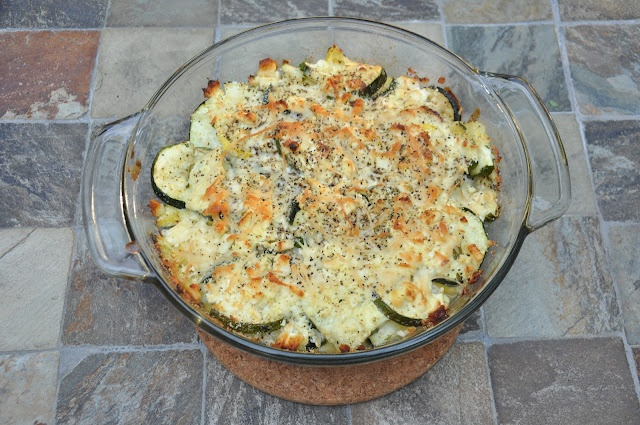 Zucchini Bake with Feta and Fresh Thyme | 365 Days of DIY | Pinterest