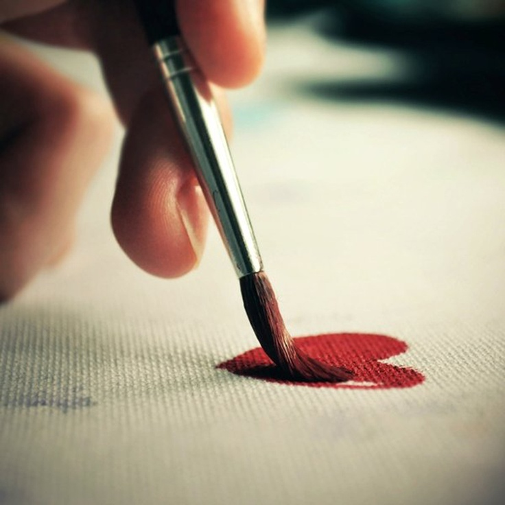 paint: The Vow, Love Paintings, Heart Paintings, Engagement Photos, Paintings Colors, My Heart, Red Heart, Love Heart, Love Life