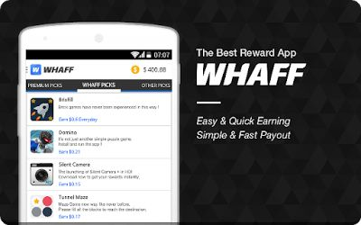 Cara dapat Uang dari Aplikasi Android WHAFF, Gratis