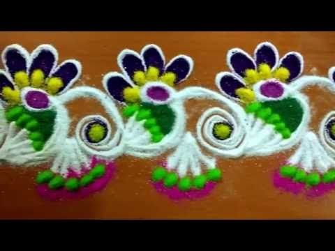 dussehra special rangoli/dussehra kolam by latest rangoli - YouTube