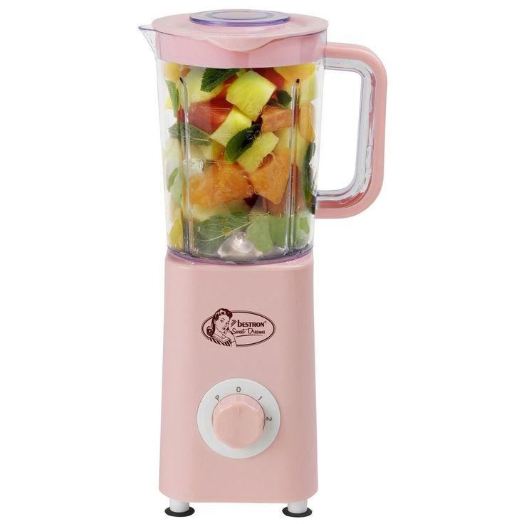 rosa mixer bestron ab511sd standmixer 0 6 l 300 w hellrosa - Kuche In Pink