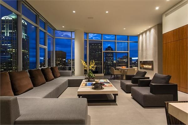 A Three Bedroom Penthouse Unit Seattle Wa Luxury