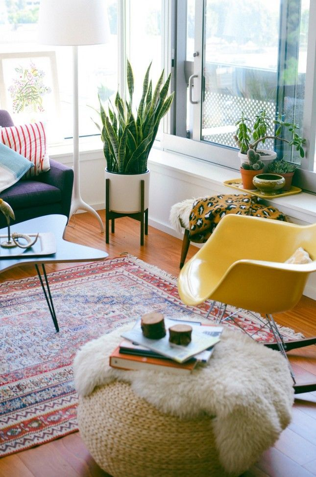 15 Creative Places To Use The IKEA Sheepskin Rug Small Living Room DesignsSmall RoomsEclectic