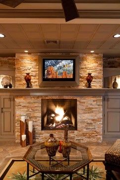 Stone Gas Fireplaces Design, Pictures, Remodel, Decor and Ideas - page 2