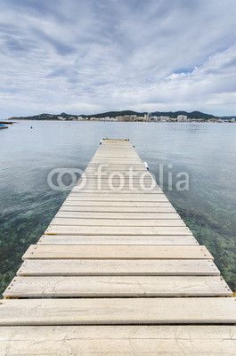Pontile sul mare #Ibiza, #Platja des Pinet, #Sant Antoni