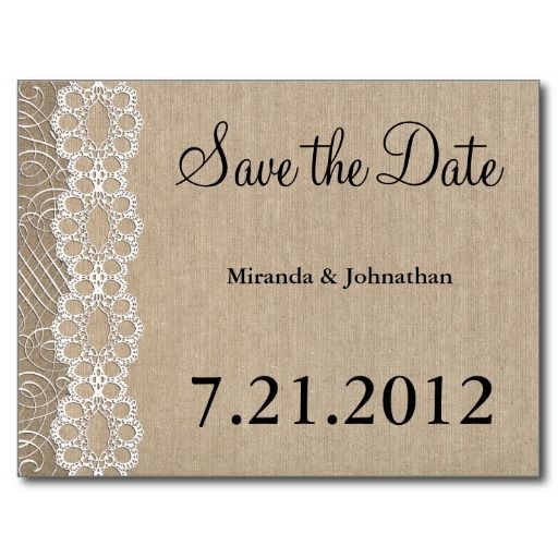 Best Burlap And Lace Wedding Postcards Images On