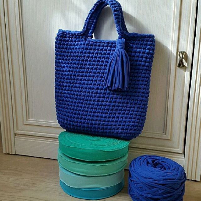 navy blue big crochet tote                                                                                                                                                     More