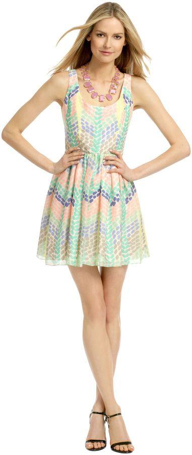 pretty printed bridal shower dress shoshanna seely dress