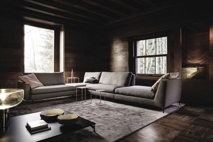 Canapé modulable / contemporain / en cuir / en tissu - 525 NORDIC by Gianluigi Landoni - Vibieffe