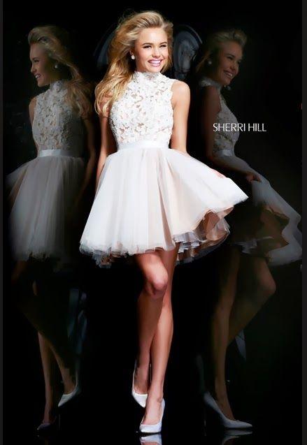 Estupendos vestidos cortos de 15 años   Moda 2014
