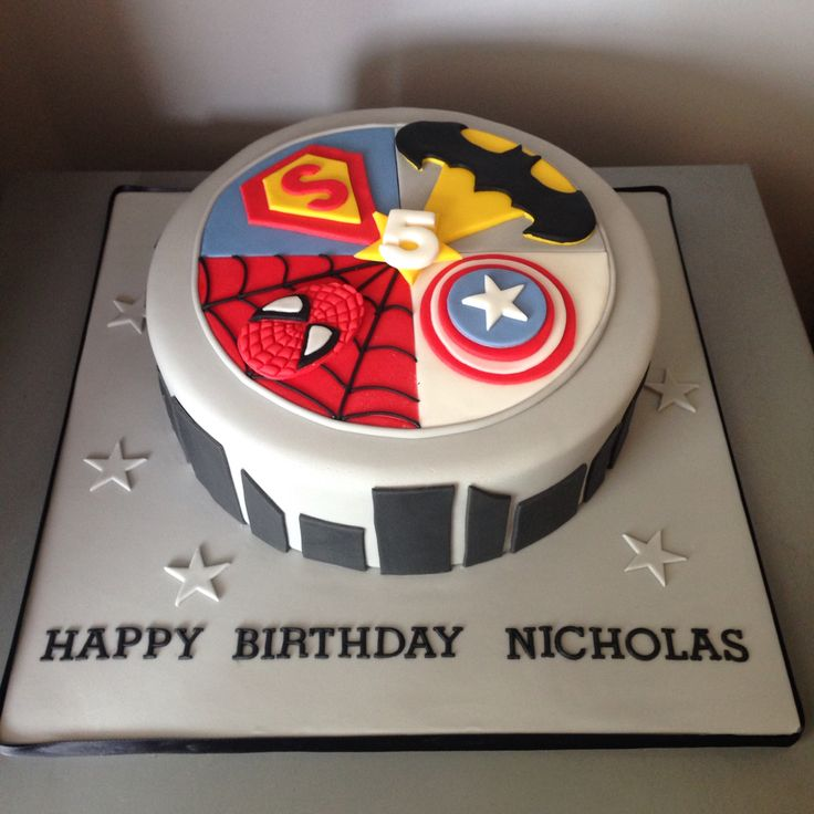 Superheroes cake                                                                                                                                                                                 More