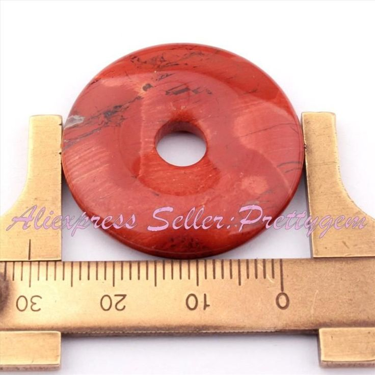 30mm Natural Donut Round Gem Stone Beads Spacer Pendant 1 Pc,For DIY Necklace Bracelet Jewelry Making,Wholesale