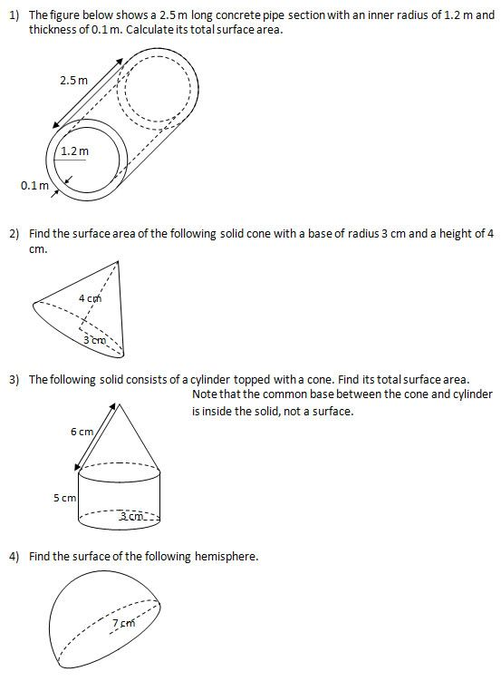 Area of Polygons Worksheets Free | answers total area m 2 area cm 2 area cm