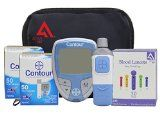 Diabetes Testing Kit (Bayer Contour Meter + 100 Bayer Contour Test Strips + 100 Active1st 30g Lancets + Lancing Device) - http://trolleytrends.com/health-fitness/diabetes-testing-kit-bayer-contour-meter-100-bayer-contour-test-strips-100-active1st-30g-lancets-lancing-device