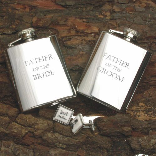 A great thank you gift idea for the Father of the Bride or Father of the Groom  Stainless Steel 3oz Hip Flask | Wedding party gift ideas