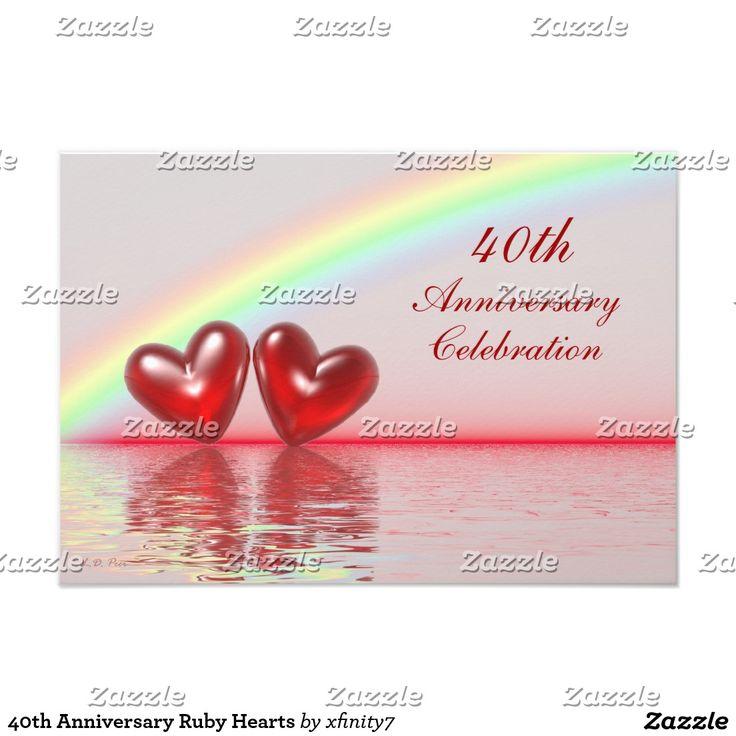 40th Anniversary Ruby Hearts