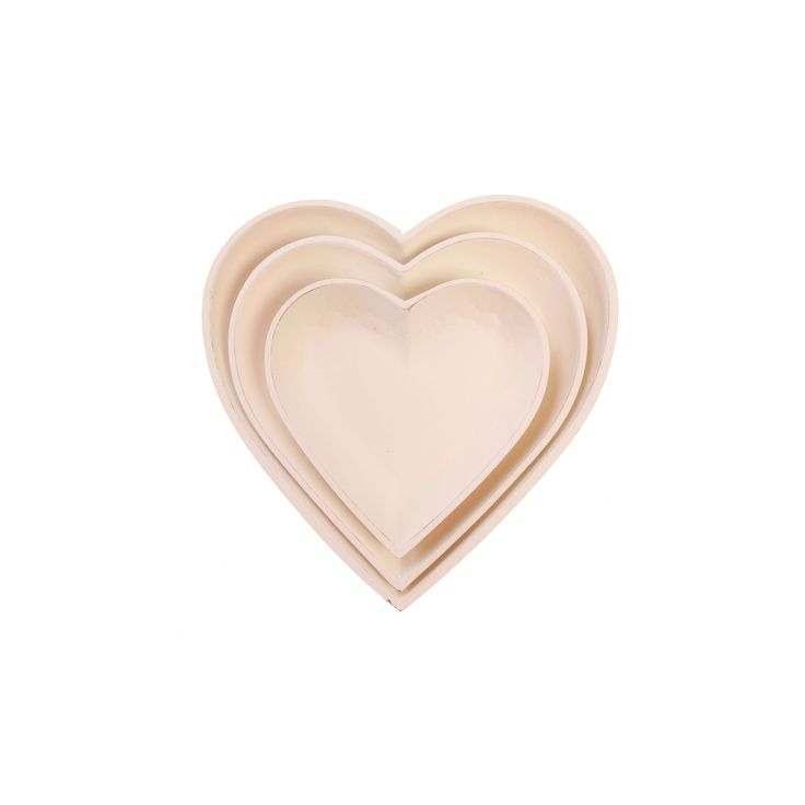 'Small Things' White Heart Bowls (set of 3). Only 19€. Buy Now here http://www.smallthings.gr/product-category/valentines-day-2/