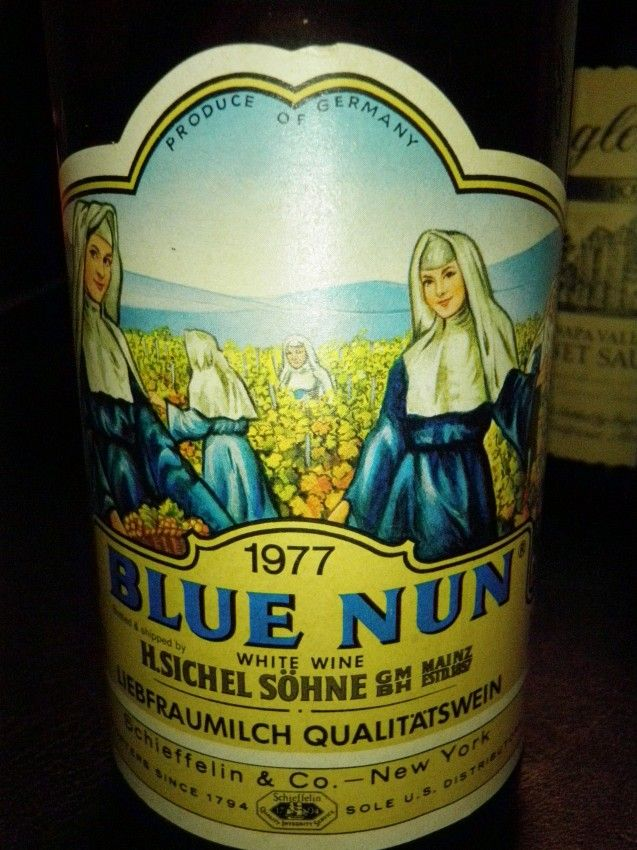 Blue Nun wine - what passed for sophistication in the 1970s